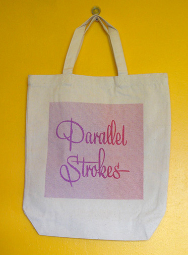 parallel strokes totebag
